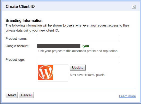 google-drive-create-client-id